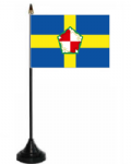 Pembrokeshire Desk / Table Flag with plastic stand and base.